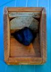 Origineel kistje van de koolstof meteoriet