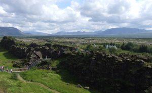IJsland breuk, continenten