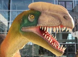 replica dilophosaurus Gea kring Fryslan