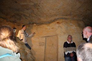 Geakring Friesland Excursie naar maastricht, In de grotten naar de KT grens